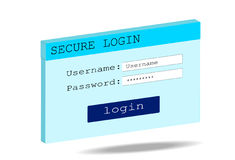 Secure login Royalty Free Stock Image