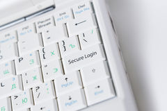 Secure Login key royalty free stock photography