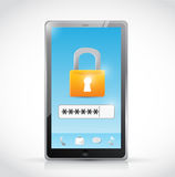 Secure login protection concept illustration Royalty Free Stock Images