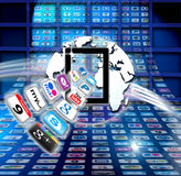 Secure Mac iCloud data apps. Apple Mac iCloud computer data organisation is so much more than a secure hard drive in the sky. It makes it quick and effortless to Royalty Free Stock Photos