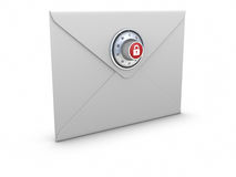 Secure Mail concept Royalty Free Stock Images