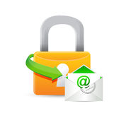 Secure mail illustration design Stock Image