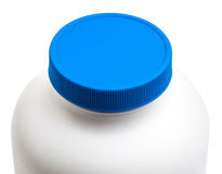Secure medicine cap package isolated with clipping path Royalty Free Stock Image