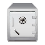 Secure metal safe. Silver secure metal money or valuables dial safe Royalty Free Stock Images