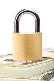 Secure Money US Dollars and Lock Stock Photo