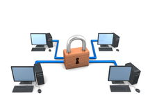 Secure net. 3d image conceptual network security Royalty Free Stock Photo