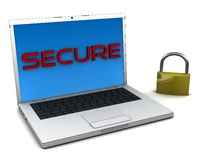 Secure notebook Royalty Free Stock Image