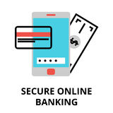 Secure online banking icon, for graphic and web design Stock Photo