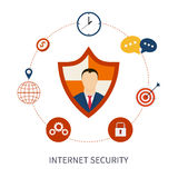 Secure online shopping and internet security Stock Photos