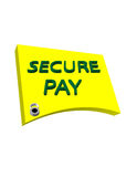 Secure Pay. Sign with lock Royalty Free Stock Photos