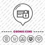 Secure payment icon. Credit card symbol. Eps10 Vector Royalty Free Stock Image