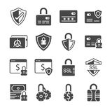 Secure payment icon set. Included the icons as credit cad, safe, protection, ssl, encryption and more. Royalty Free Stock Photo