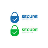 Secure payment icon ssl  encryption transaction. Safe pay money Stock Photos