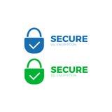 Secure payment icon ssl  encryption transaction Stock Photos