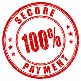 100 secure payment stamp. 100 secure payment rubber stamp royalty free illustration