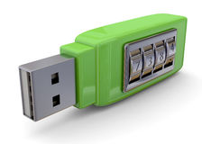 Secure Pendrive Concept - 3D Royalty Free Stock Photos