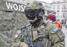 Secure Poland NATO welcome ceremony in Krakow, Poland. Stock Photography