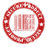 Secure product grungy stamp design Royalty Free Stock Photo