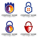 Secure or Protection Home Concept Logo Royalty Free Stock Photos