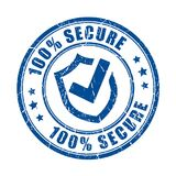 Secure protection vector stamp Royalty Free Stock Photo