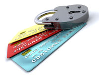 Secure purchases Stock Image