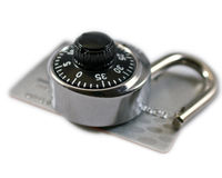 Secure Purchasing on the Internet Stock Photo