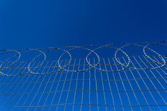 Secure Razor Wire Fencing Stock Photography