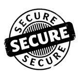 Secure rubber stamp Stock Photography