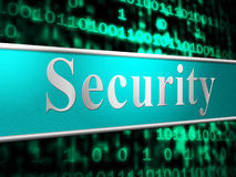 Secure Security Means Restricted Protect And Privacy Royalty Free Stock Photo