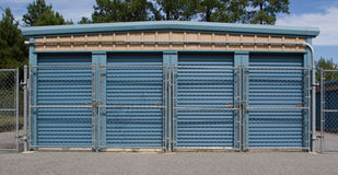 Secure Self Storage Facility Royalty Free Stock Photos
