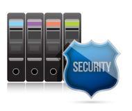 Secure server shield illustration design Stock Photos