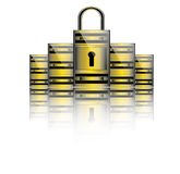 Secure servers. Safety data servers vector,database and maintenance business storage vector Stock Photo