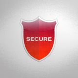 Secure shield. Royalty Free Stock Photo