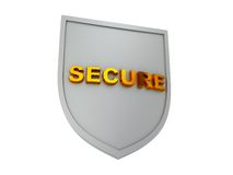 Secure shield Stock Photo
