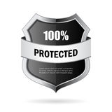 Secure shield vector icon. Isolated on white background Royalty Free Stock Image