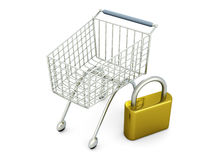 Secure Shopping Stock Image
