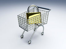 Secure Shopping Royalty Free Stock Photography
