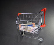 Secure shopping cart Royalty Free Stock Photography