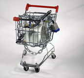 Secure shopping cart Stock Images