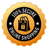 Secure shopping icon. Isolated on white background stock illustration