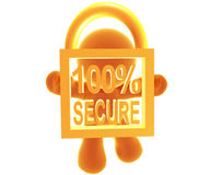 Secure shopping icon symbol. 100 % Secure shopping icon symbol royalty free illustration