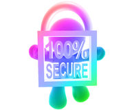 Secure shopping icon symbol. 100 % Secure shopping icon symbol Royalty Free Stock Photography