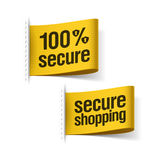100% secure shopping Stock Photo
