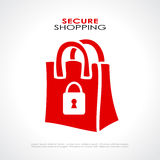Secure shopping symbol. Vector illustration vector illustration