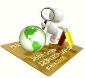 Secure shopping worldwide Stock Photo