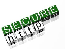 Secure Site http. Not Secure Site http TEXT Stock Photography