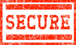 Secure stamp. An illustration stamp declaring security over a white background royalty free illustration