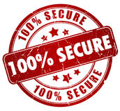 Secure stamp Stock Photography