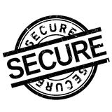 Secure stamp rubber grunge Royalty Free Stock Photography