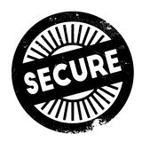 Secure stamp rubber grunge Stock Photos
